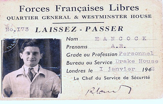 Dad Free French Pass Photo courtesy of Mr. Archie Hancock