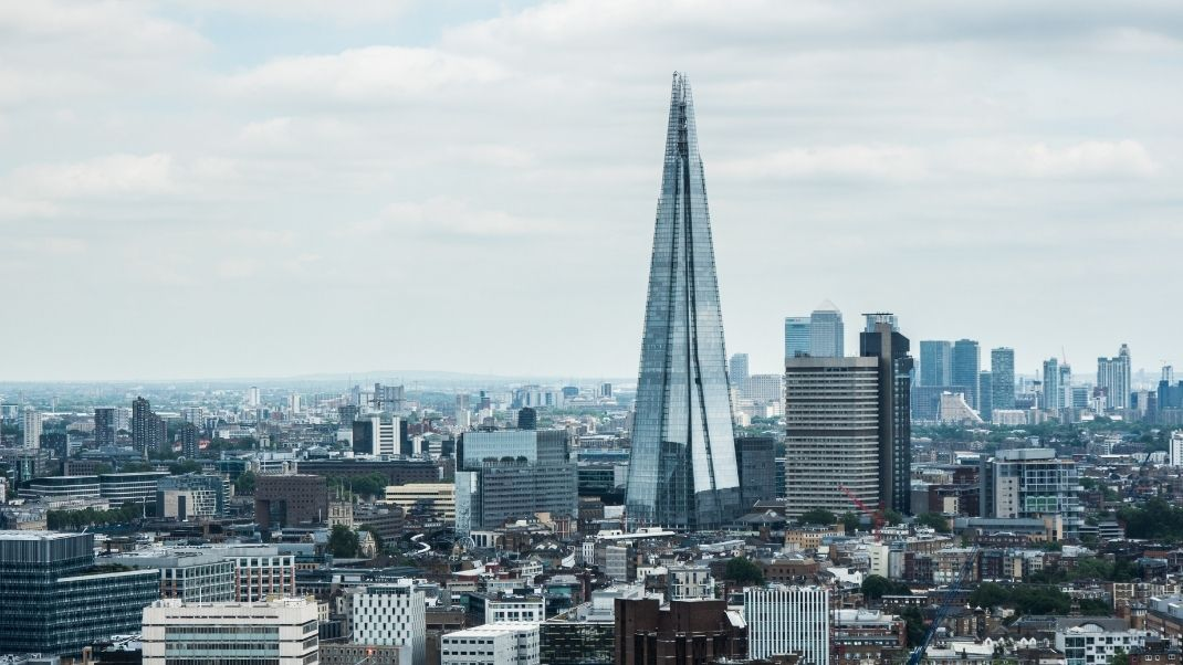 Skyline view of the Shard in London